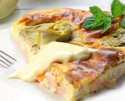 recetas ybarra tarta de alcachofas
