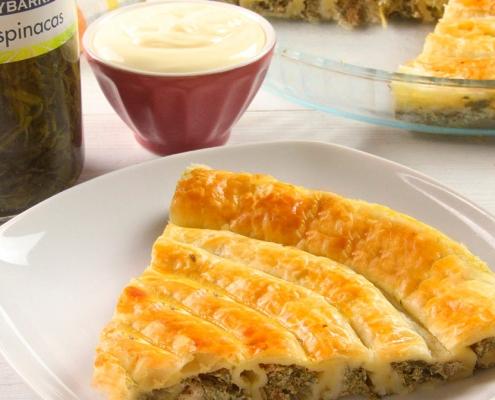 recetas ybarra tarta de espiral de espinacas