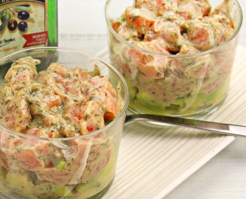 recetas ybarra tartar de salmon y aguacate