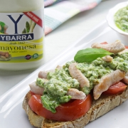 recetas ybarra tosta con mayonesa de pesto