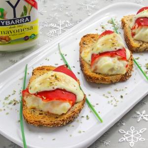 recetas ybarra tostas de pimimientos del piquillo con mayonesa