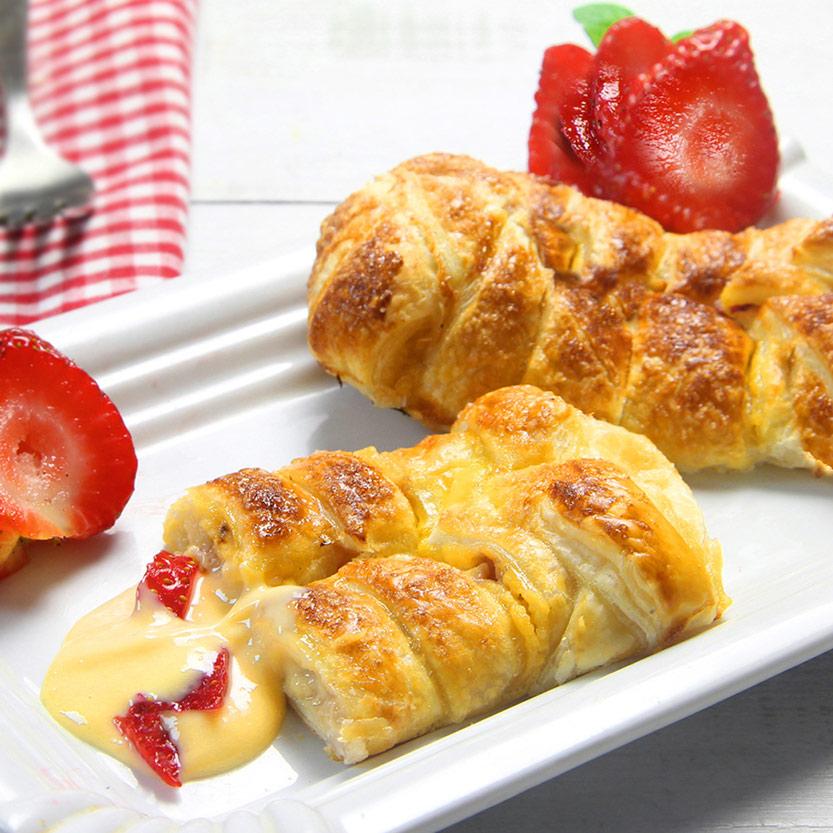 recetas ybarra trenza de crema de fresas