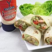 recetas ybarra wrap de langostinos con guacamole y mayonesa sriracha