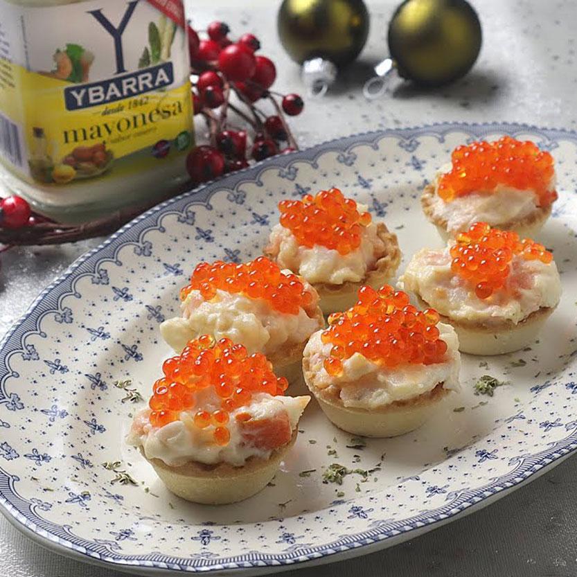 Tartaletas de ensaladilla de marisco