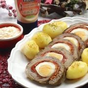 Rollo de ternera con mayonesa de Sriracha