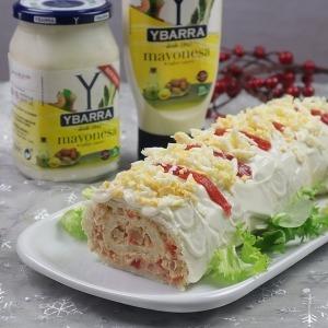Brazo de gitano de atún con mayonesa