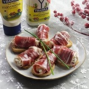 rollitos de jamon, pollo y mayonesa