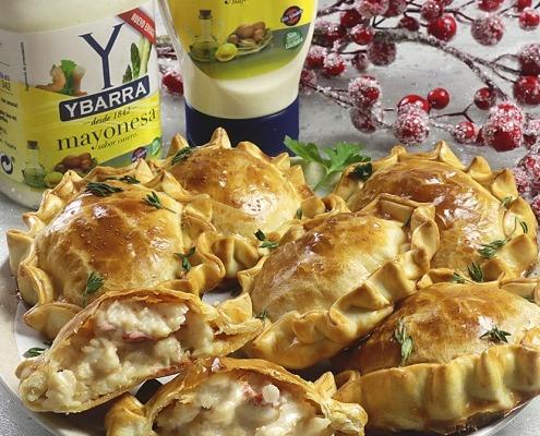 Pastelitos de merluza con mayonesa