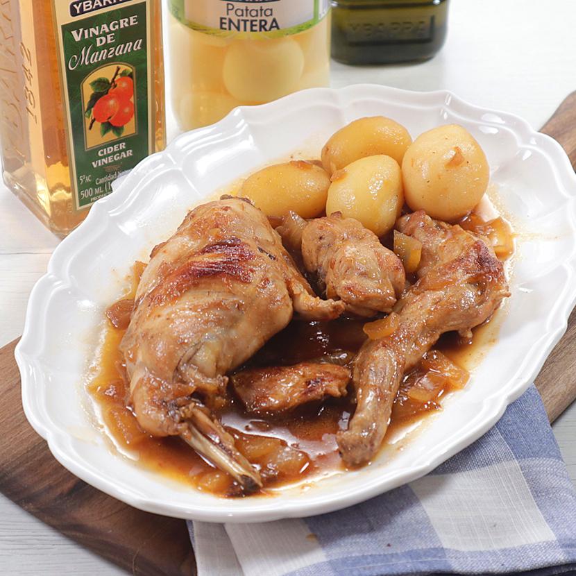 guiso de conejo en salsa agridulce Ybarra