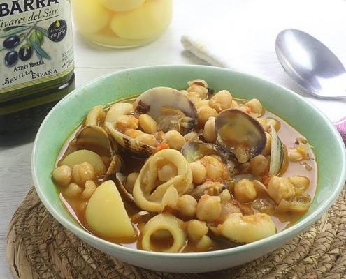garbanzos a la marinera en aceite de oliva