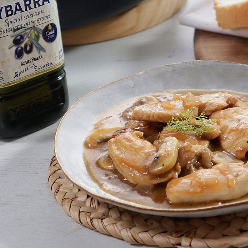 Pechugas de pollo al Pedro Ximénez