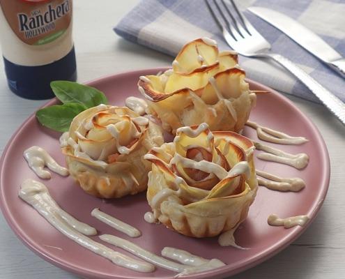 Rosas de patata y bacon