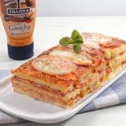 Pastel pizza de pan de molde