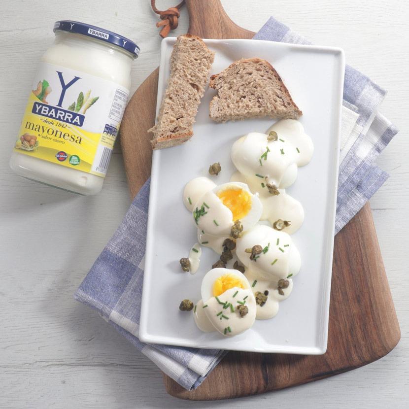 Huevos con mayonesa